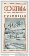 Cortina 30er Jahre - Faltblatt Mit 10 Abbildungen - Italia