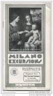 Milano Excursions - 24 Seiten Mit 14 Abbildungen 1934 - Stadtplan - Italy