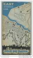 Schweden - Oslo Og Omegn 1940 - Kart Utgitt Med Enerett Av Aftenposten - Oslo Lufthavn Fornebu - Landkarten