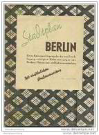 Stadtplan Berlin 1946 Mit Ausführlichen Strassenverzeichnis - Geographical Maps