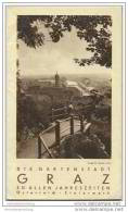 Graz Ca. 1930 - Faltblatt Mit 14 Abbildungen - Oesterreich