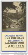 Baden Bei Wien - Sacher 's Hotel Und Kurhaus Helenental - Faltblatt Mit 5 Abbildungen - Oesterreich