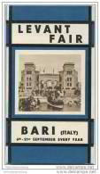 Bari - Fiera Del Levante - Levant Fair 20er Jahre - Faltblatt Mit 11 Abbildungen Mit Angaben Der Standmieten - Reiseführer