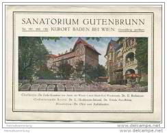 Baden Bei Wien - Sanatorium Gutenbrunn - Faltblatt Mit 2 Abbildungen - Oesterreich