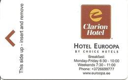 ESTONIA KEY HOTEL Clarion Hotel Euroopa - TALLINN - Hotel Keycards