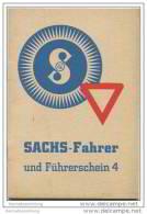 Sachs-Fahrer Und Führerschein 1938 - Prüfungsfragen Und Antworten Zur Erlangung Des Führerscheines 4. - Fichtel & Sa - Gesetze & Erlasse