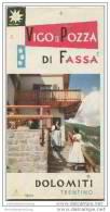 Vigo E Pozza Di Fassa 1956 - Faltblatt Mit 6 Abbildungen - Reliefkarte / Berann - Italy