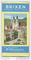 Brixen 1956 - Faltblatt Mit 20 Abbildungen - Beiliegend Hotelverzeichnis - Italy