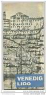Venedig 50er Jahre - Faltblatt Mit 19 Abbildungen - Italy