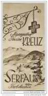 Serfaus - Alpengasthof Pension Kreuz 30er Jahre - Faltblatt Mit 11 Abbildungen - Oesterreich