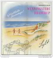 Wenningstedt Braderup 1956 - 12 Seiten Mit 20 Abbildungen - Beiliegend Wohnungsanzeiger 20 Seiten Mit Vielen Abbildungen - Schleswig-Holstein