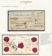 Lettre CHARGE (griffe Noire) De LIEGE Le 24 Mars 1862 Vers Harem (Pays-Bas), Réexpédiée Vers Heerlen, Haarlem, Arnhem Et - 1849-1865 Médaillons (Autres)