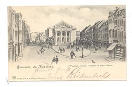 B 4800 VERVIERS, Verviers Ancienne, Theatre Et Place Vert, 1900, Ed.: Eyfriedt-Düsseldorf - Verviers