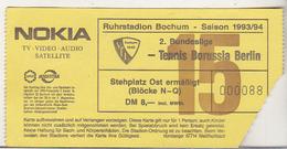 Germany VFL Bochum - Tennis Borussia Berlin -  1993 2.Bundesliga Match Ticket - Tickets D'entrée