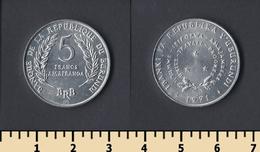 Burundi 5 Francs 1971 - Burundi