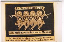 PHOTO  D'AFFICHE PUB LE   SAVON  D OCCUBA       TBE  AU 627 - Affiches
