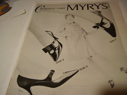 ANCIENNE PUBLICITE CHAUSSURE MYRYS  1965 - Publicités