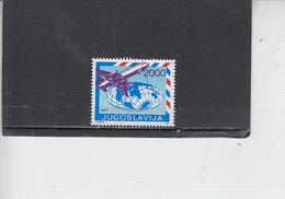 JUGOSLAVIA  1988 - Unificato  2185° - La Posta - 1945-1992 Repubblica Socialista Federale Di Jugoslavia