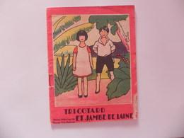 Livret BD Bande Dessinée Ave Tricotard Et Jambe De Laine  éditions Enfantine Filatures De La Redoute Illustrée  14 Pages - Advertising