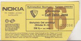 Germany VFL Bochum - Carl Zeiss Jena -  1993 2.Bundesliga Match Ticket - Tickets D'entrée