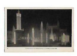 EXPOSICION INTERNACIONAL DE BARDELONA 1929 Plaza Del Universo Nocturna - Exposiciones