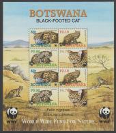 BOTSWANA - 2005 World Wildlife Fund WWF Animals Souvenir Sheet. Scott 809a. MNH - Botswana (1966-...)
