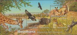 BOTSWANA - 2003 Wetlands Souvenir Sheet - Birds, Animals. Scott 779a. MNH - Botswana (1966-...)