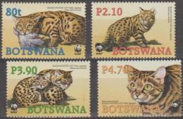 BOTSWANA - 2005 World Wildlife Fund WWF Animals. Scott 806-809. MNH - Botswana (1966-...)