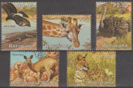 BOTSWANA - 2003 Wetlands - Birds, Animals. Scott 775-779. MNH - Botswana (1966-...)