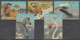 BOTSWANA - 2002 Wetlands - Birds, Animals. Scott 761-765. MNH - Botswana (1966-...)