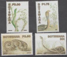 BOTSWANA - 2002 Snakes Reptiles. Scott 731-734. MNH - Botswana (1966-...)