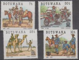 BOTSWANA - 1985 Police Centenary. Scott 368-371. MNH - Botswana (1966-...)