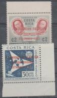 COSTA RICA - 1962 Philatelic Convention Overprints. Scott C338-339. MNH - Costa Rica