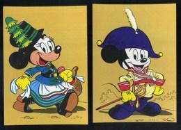 MICKEY MOUSE - DISNEY - TOPOLINO - MINNIE - MINNI - 2 CARTOLINE - Disney