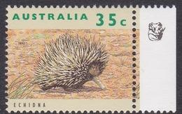 Australia ASC 1358a 1992 Australian Wildlife 35c Echidna, 1 Koala Reprint, Mint Never Hinged - Proofs & Reprints