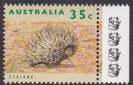 Australia ASC 1358d 1992 Australian Wildlife 35c Echidna, 4 Koalas Reprint, Mint Never Hinged - Proofs & Reprints