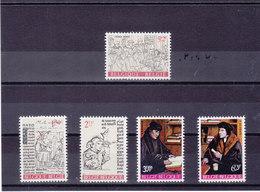 BELGIQUE 1967 ERASME Yvert 1427-1431 NEUF** MNH - Belgique