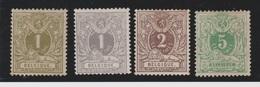 Belgique - 1884-88 - * - COB 42 à 45 - Série - - 1869-1888 Lying Lion