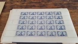 LOT 410027 TIMBRE DE FRANCE NEUF** LUXE FEUILLE N°549 VALEUR 46,5 EUROS  BLOC - Feuilles Complètes