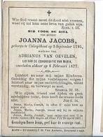 DEV28/ ° KALMTHOUT 1795 + 1877   JOANNA JACOBS - Religion & Esotericism