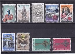BELGIQUE 1968 Yvert 1444-1445 + 1447-1453 NEUF** MNH - Belgique