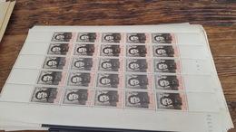 LOT 410031 TIMBRE DE FRANCE NEUF** LUXE FEUILLE N°550 VALEUR 16,5 EUROS  BLOC - Feuilles Complètes