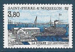 Timbre Neuf** St Pierre Et Miquelon , N °636 Yt , La Douane - St.Pierre Et Miquelon