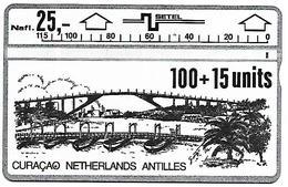 @+ Curacao SETEL - 100 U - Série LG : 109D... Ref : AN-CUR-SET-0002 - Antilles (Netherlands)