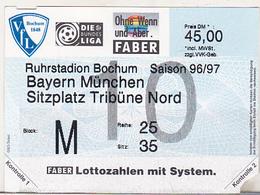 Germany VFL Bochum - Bayern Munchen -  1996 Bundesliga Match Ticket - Tickets D'entrée