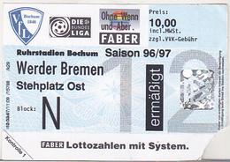 Germany VFL Bochum - Werder Bremen -  1996 Bundesliga Match Ticket - Tickets D'entrée