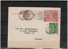 LMM14 - GRANDE BRETAGNE EP CP ROCHESTER / PARIS 18/5/1924 - Stamped Stationery, Airletters & Aerogrammes