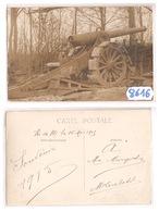 8616  CARTE PHOTO CANON 155 LONG   H. DE M. LE 15 MAI 1915  A IDENTIFIER - Cartoline