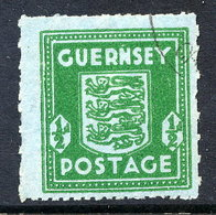 GUERNSEY 1942 ½d On Blue Paper Used.  Michel 4 - Occupation 1938-45