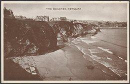 The Beaches, Newquay, Cornwall, 1935 - Phototone Postcard - Newquay
